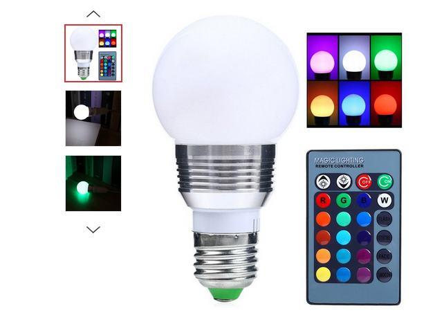 3,46€ Ampoule LED télécommandée