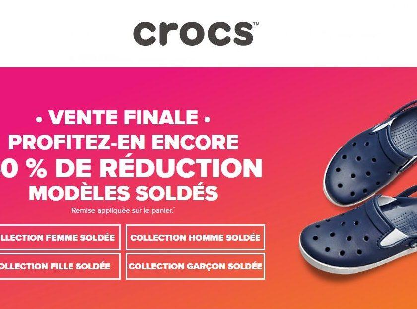 50% supplementaire sur les soldes Crocs