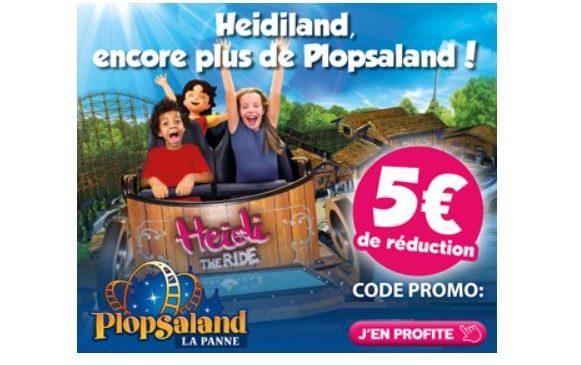 5€ de remise billet Plopsaland Plopsaqua