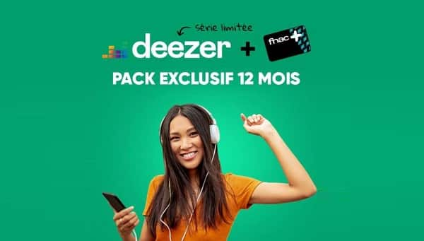 60€ L'abonnement Deezer Premium+ 1 An & Carte Fnac+