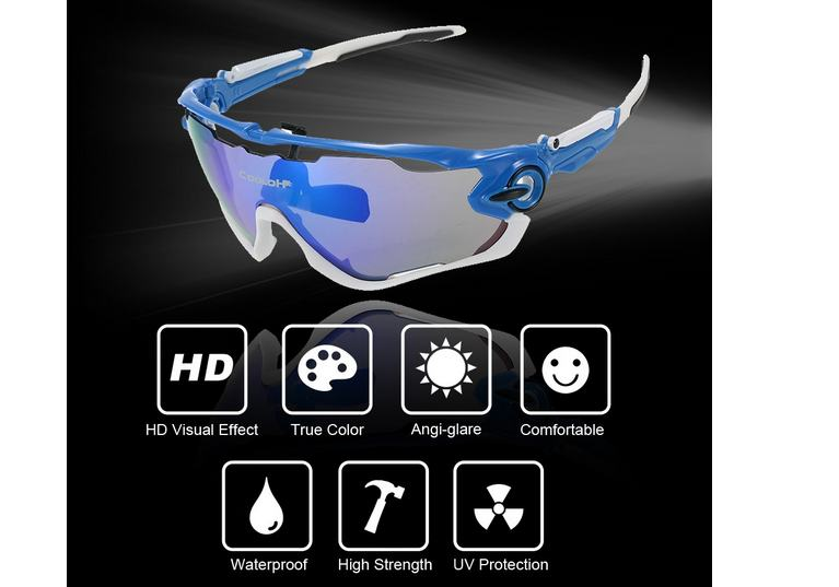9€ les lunettes de cyclisme polarisées anti UV
