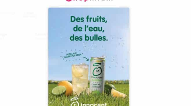 Boisson Innocent Bubbles 1€ remboursé