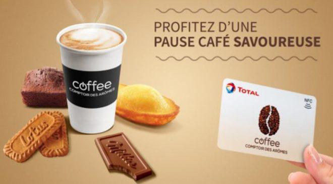 Carte Total Coffee Comptoir des Arômes moitié prix.