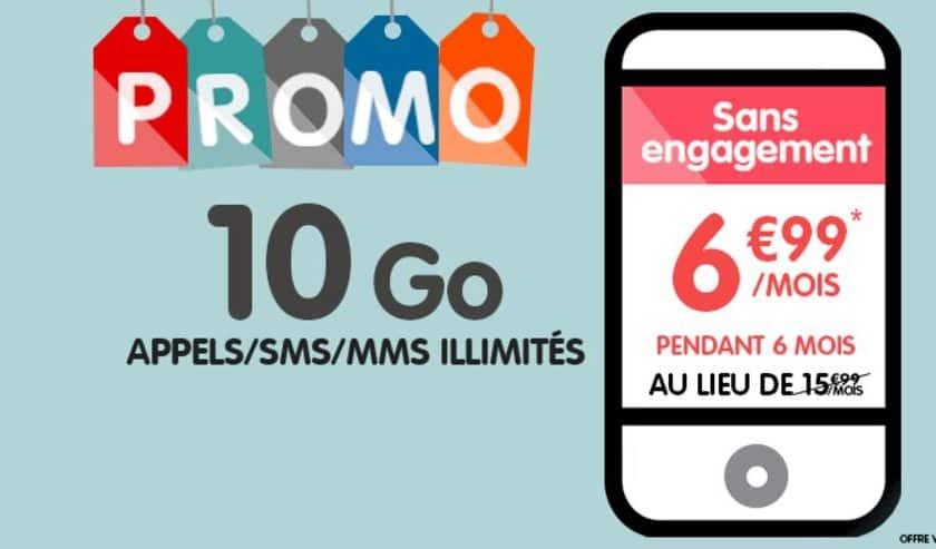 Forfait 10Go NRJ Mobile 6,99€