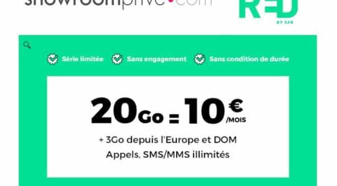 Forfait 20Go RED SFR 10€ mois a vie