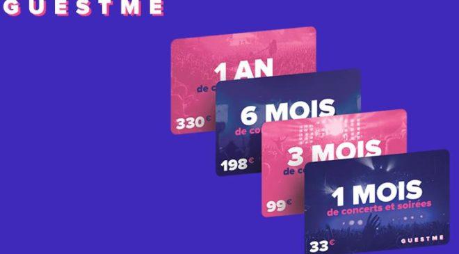 GUESTME : 33€ pour 1 mois de concerts et soirées en illimités