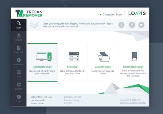 Gratuit Logiciel Loaris Trojan Remover