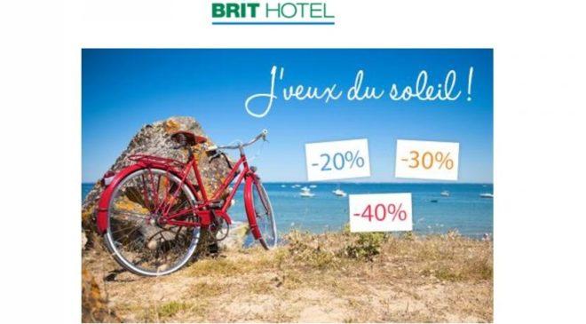 Promo été Brit Hotel : de -20 à -40 % sur vos nuits d'hôtel cet été