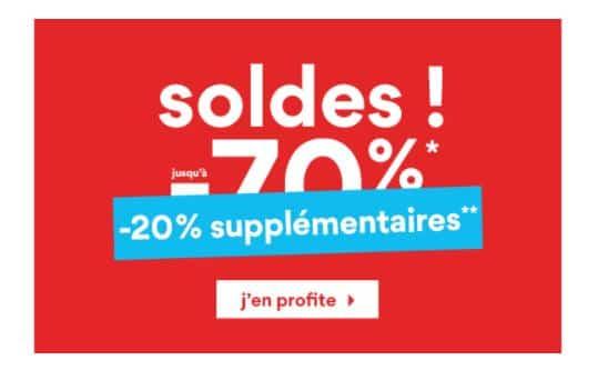 20% de remise supplémentaire sur les Soldes La Halle (dernière démarque)