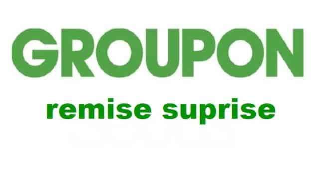 Remise surprise Groupon : jusqu'à -30% sur les offres Groupon (code promo)