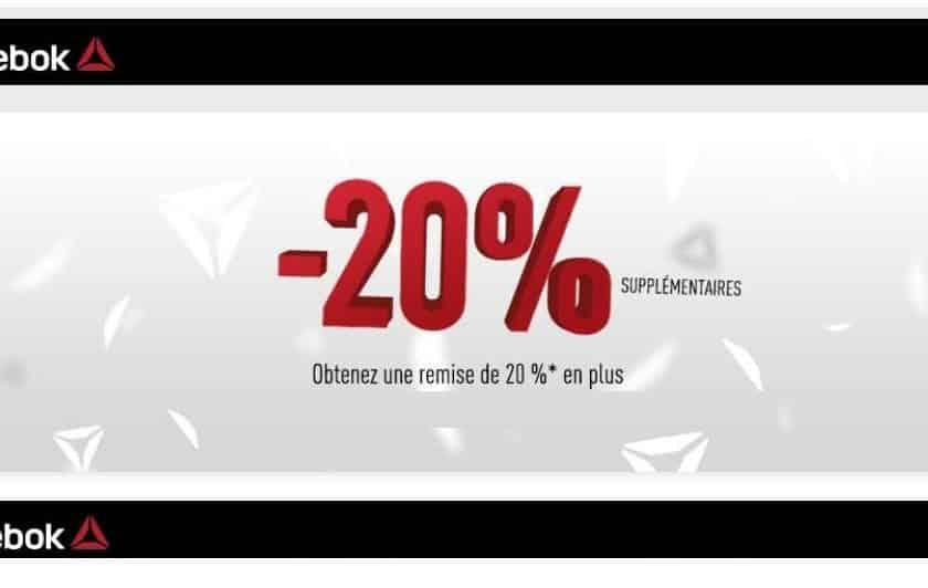 SOLDES REEBOK profitez de 20% supplémentaire