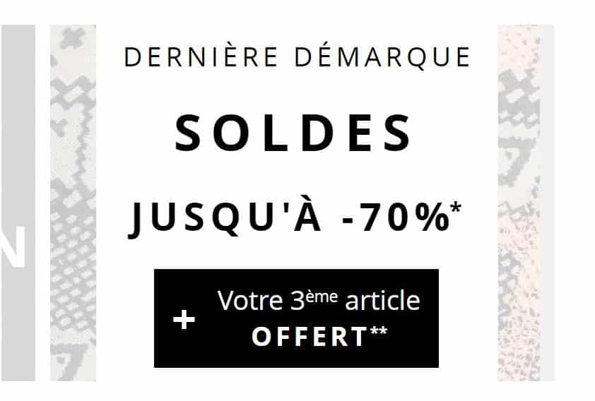 soldes 1 2 3 d marque jusqu 70 le 3eme article gratuit. Black Bedroom Furniture Sets. Home Design Ideas