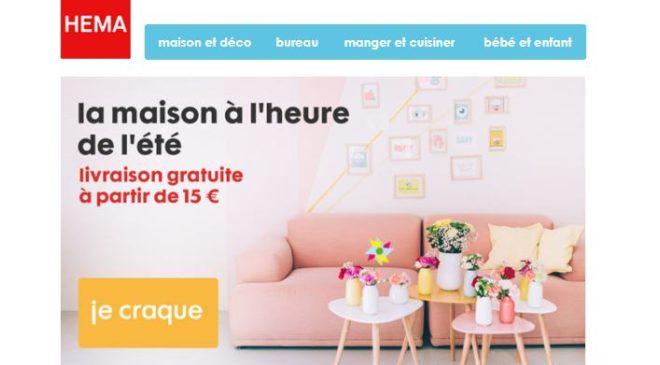 Soldes sur Hema livraison domicile gratuite dès 15€