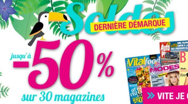 Soldes abonnement magazines Kiosque Mag