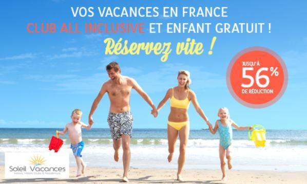 Vacances en France, All inclusive, Club avec enfant gratuit