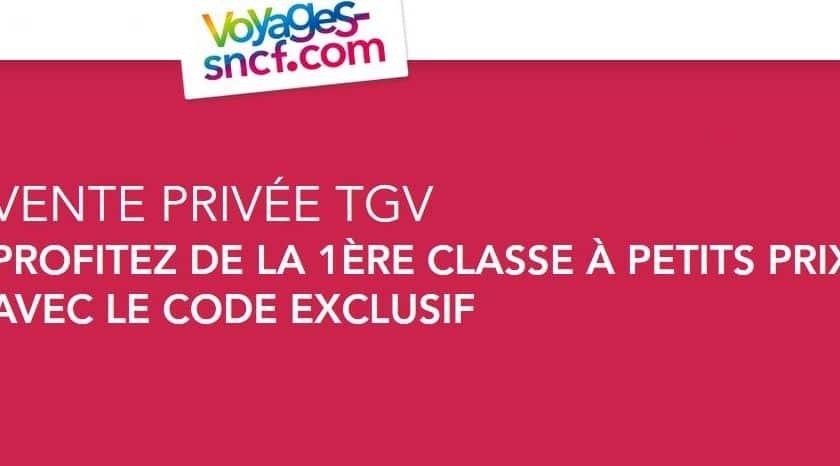 Vente privée TGV : la 1ère classe pas chère