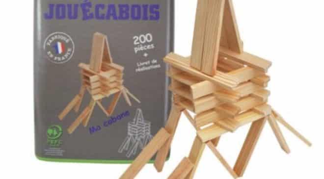 baril 200 planchettes bois naturel Jouécabois soldes