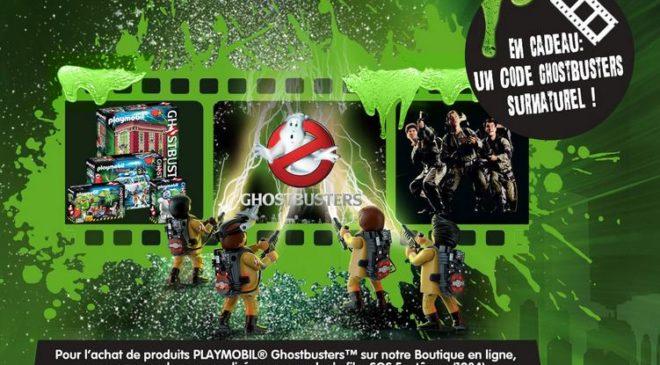 jouet Playmobil Ghostbusters achete 1 code pour voir le film Ghostbusters