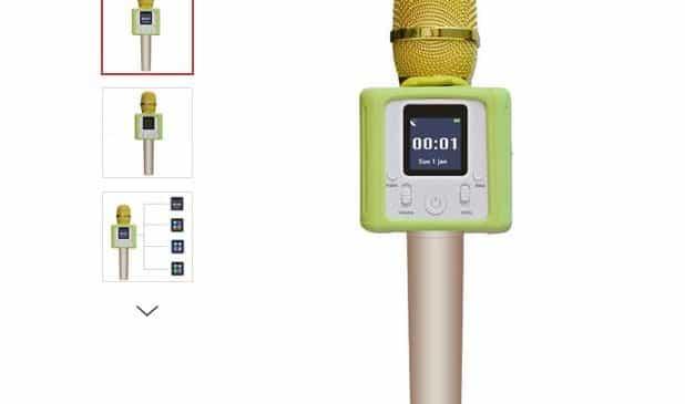 microphone karaoké Bluetooth sans fil pour smartphone 37,16€