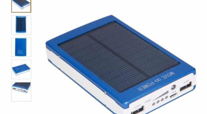 moins de 14€ la batterie externe solaire 30000 mAh