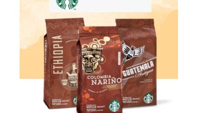 paquets de cafés en grains Starbucks achetés☕ = livraison gratuite