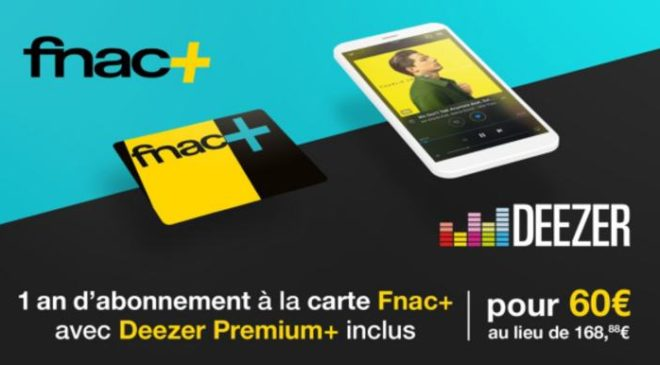 vente privée Deezer Premium+ & Carte Fnac+