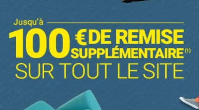 100€ de réduction supplémentaire sur Rue Du Commerce