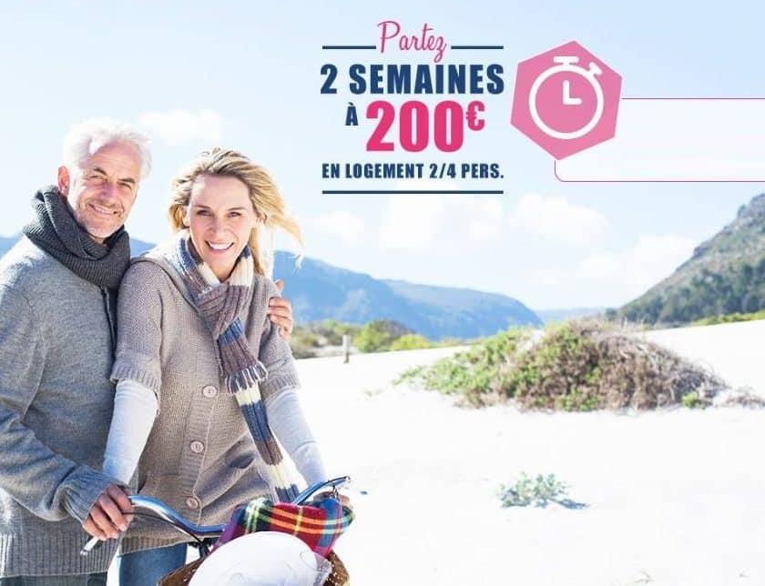 2 semaines de vacances en résidence Néméa au tarif de 200€