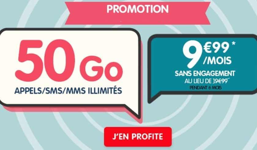 9,99€ le forfait 50Go NRJ Mobile