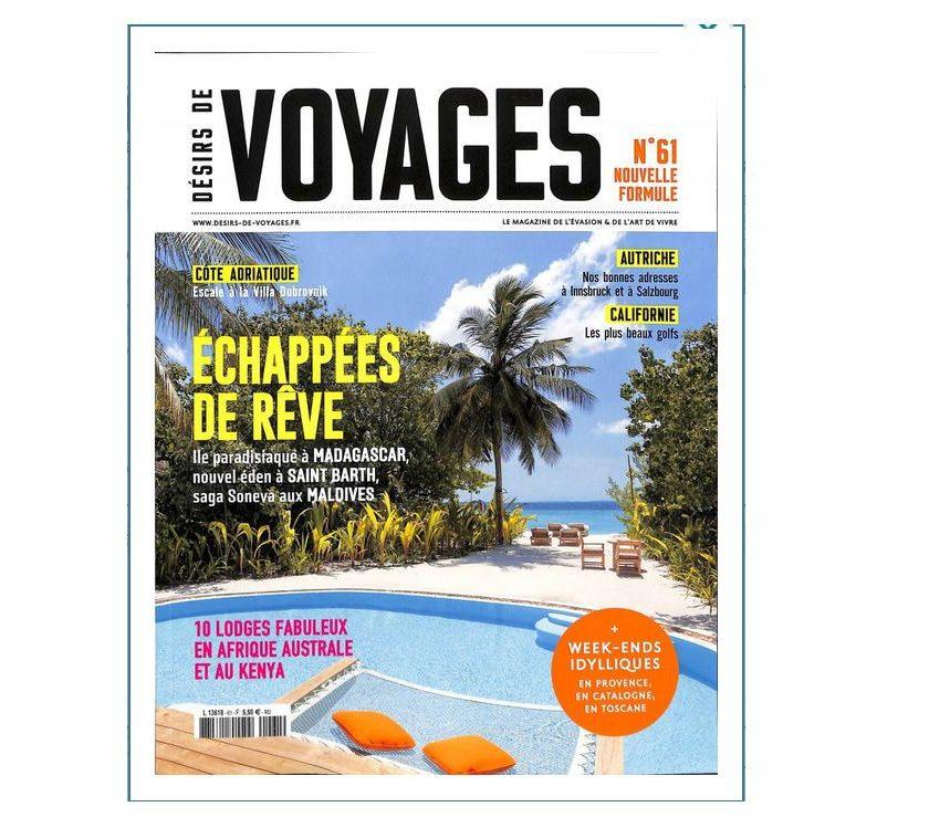 Abonnement magazine Desirs de Voyages pas cher
