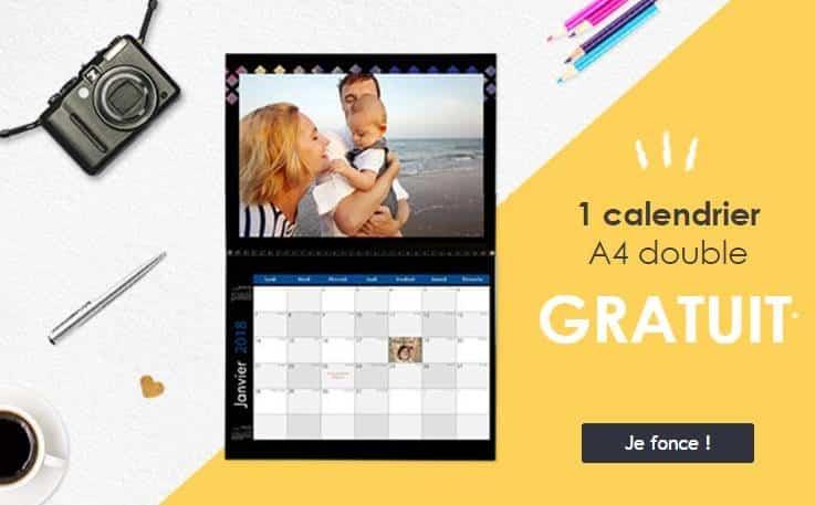 Calendrier A4 double gratuit par Photoweb