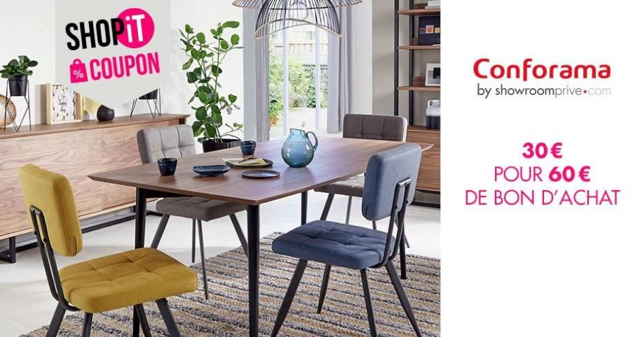 coupon conforama 30 pour faire 60 d achats sur showroompriv. Black Bedroom Furniture Sets. Home Design Ideas