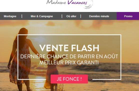 Vente Flash Dernière Minute Madame Vacances