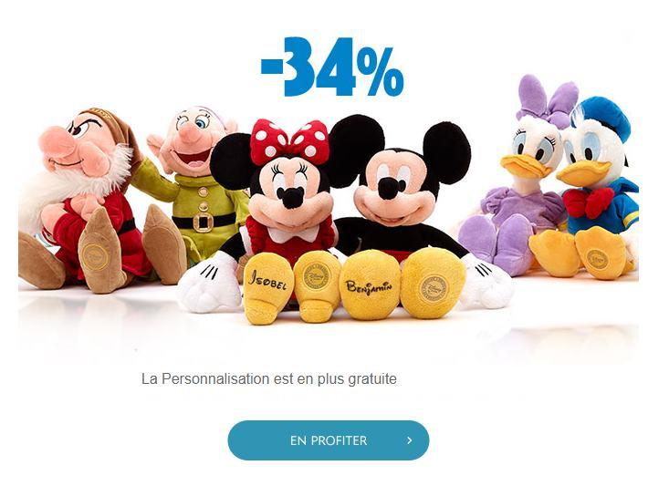 Disney Store : personnalisation gratuite