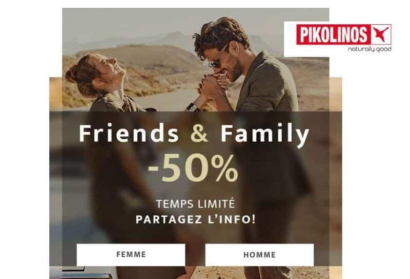 Friends&Family 50% de réduction Pikolinos