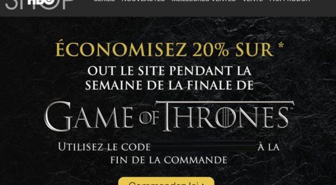 HBO Shop code promo articles Game of Thrones