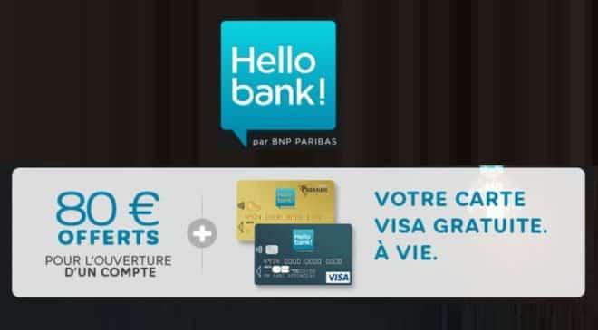 Hello Bank 80 euros offerts