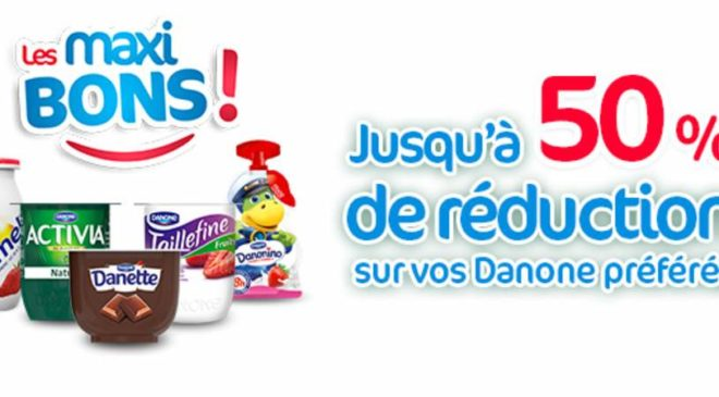 Maxibons Danone coupon de reduction