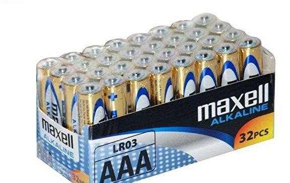 Moins de 11€ le lot de 32 piles Maxell alcaline AAA