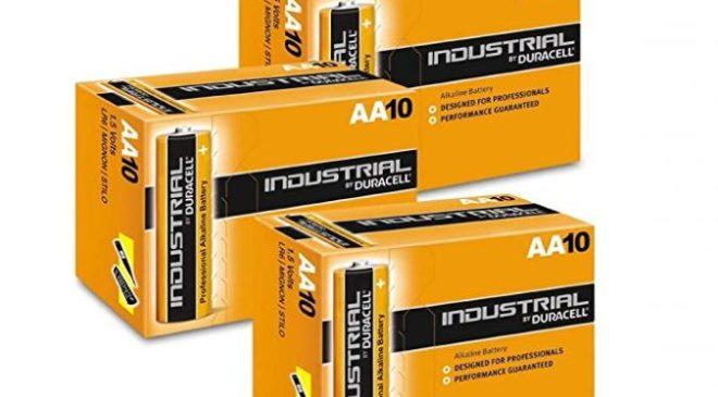 Moins de 15€ le lot de 30 piles Duracell Industrial Alcaline AA