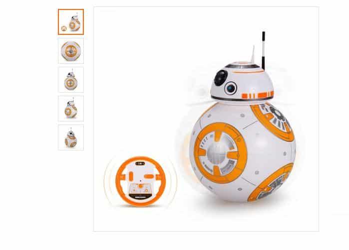 Moins de 18€ le robot BB-8 télécommandé