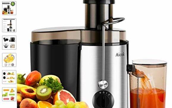 Moins de 28€ la centrifugeuse fruits et légumes Inox Aicok (bi-vitesse)