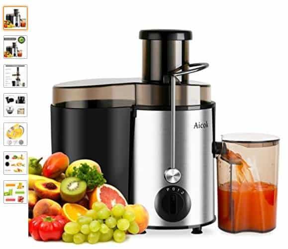 Moins de 30€ la centrifugeuse fruits et légumes Inox Aicok