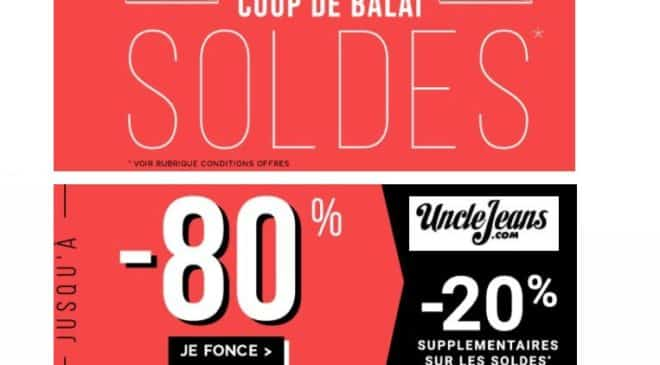 Soldes UncleJeans remise supplementaire