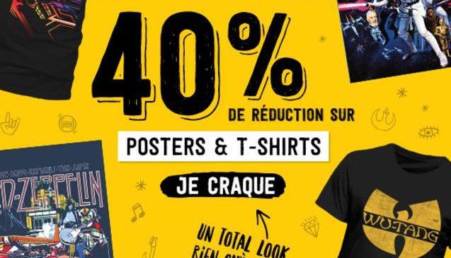 T-shirts, posters tout à -40% AllPosters