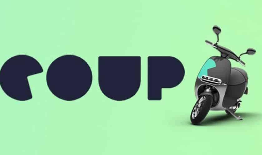 Trajet gratuit en scooter électrique libre-service COUP