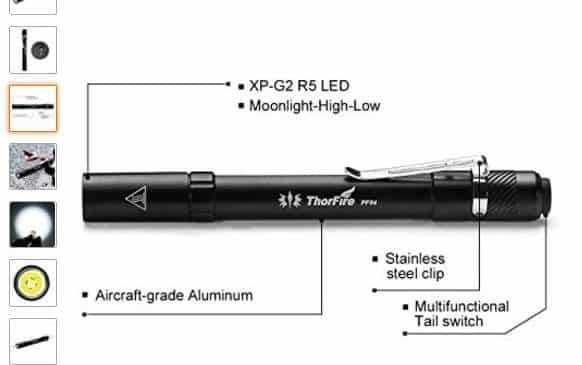 Vente Flash Lampe Torche Stylo Puissante 210 Lumens Etanche A 9 99