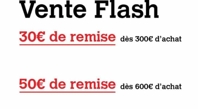Vente flash sur Darty