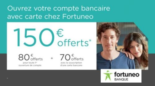 Vente privée Fortuneo : 150€ offerts
