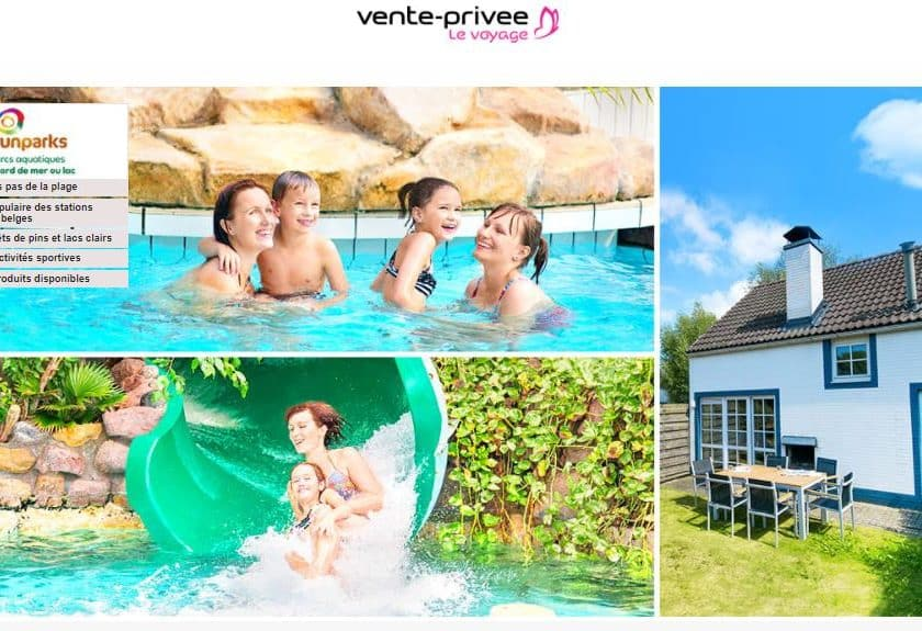 Vente privée séjours Sunparks